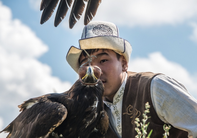 Festival degli uccelli rapaci nel Kyrgyzstan ASIA
