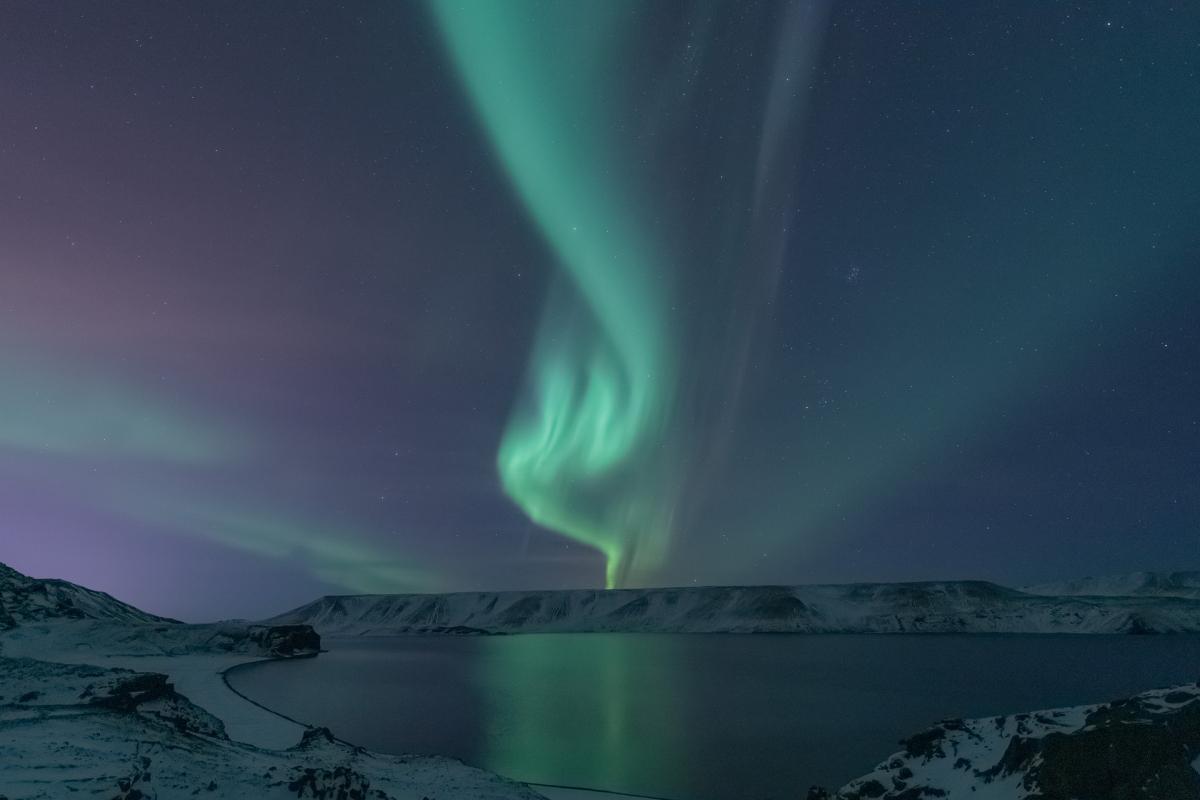 Islanda - Aurora boreale tra i ghiacci